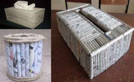 kotak-tisu-dari-koran-bekas