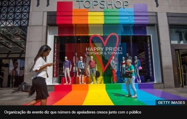 Empresas a apoiarem a Parada do Orgulho LGBT de Londres