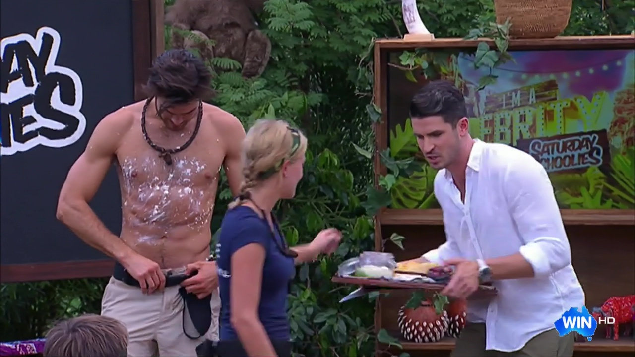 Auscaps Justin Lacko Shirtless In Im A Celebrity -3204