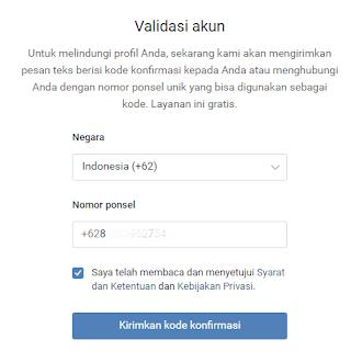 validasi akun