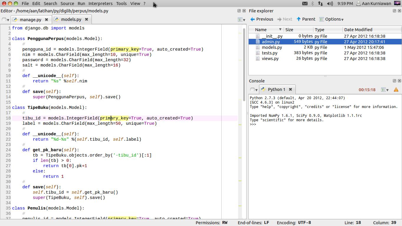 Spyder Editor Ringan Python