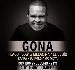GONA EN BOGOTÁ JUNTO A FLACO FLOW & MELANINA, EL JUDIO, KAFKA, DJ POLO Y MC MEYA 1