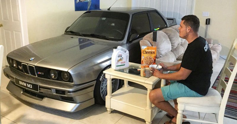 The Car Hero Who Brought His E30 M3 Indoors to Save It From Hurricane