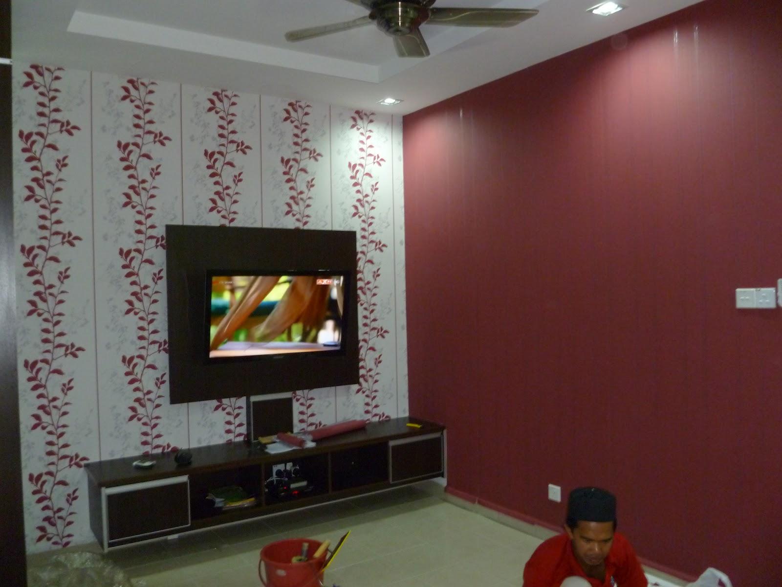 Wallpaper Maroon Pengurus Syarikat Dan Isteri Baiti Jannati Deco