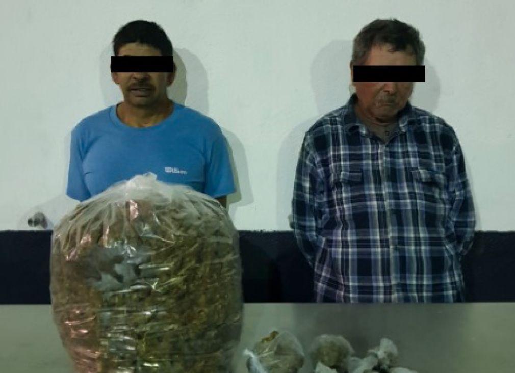 Captura a dos integrantes del Cártel de Sinaloa con marihuana