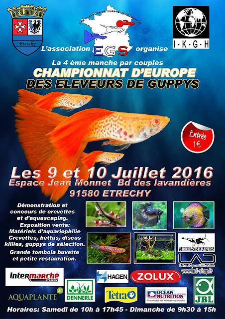 Championnat de France & d'Europe de Guppys 2016