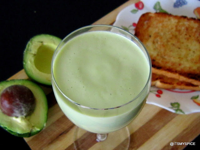 Sinh to bo- a vietnamese avocado smoothie with condensed milk