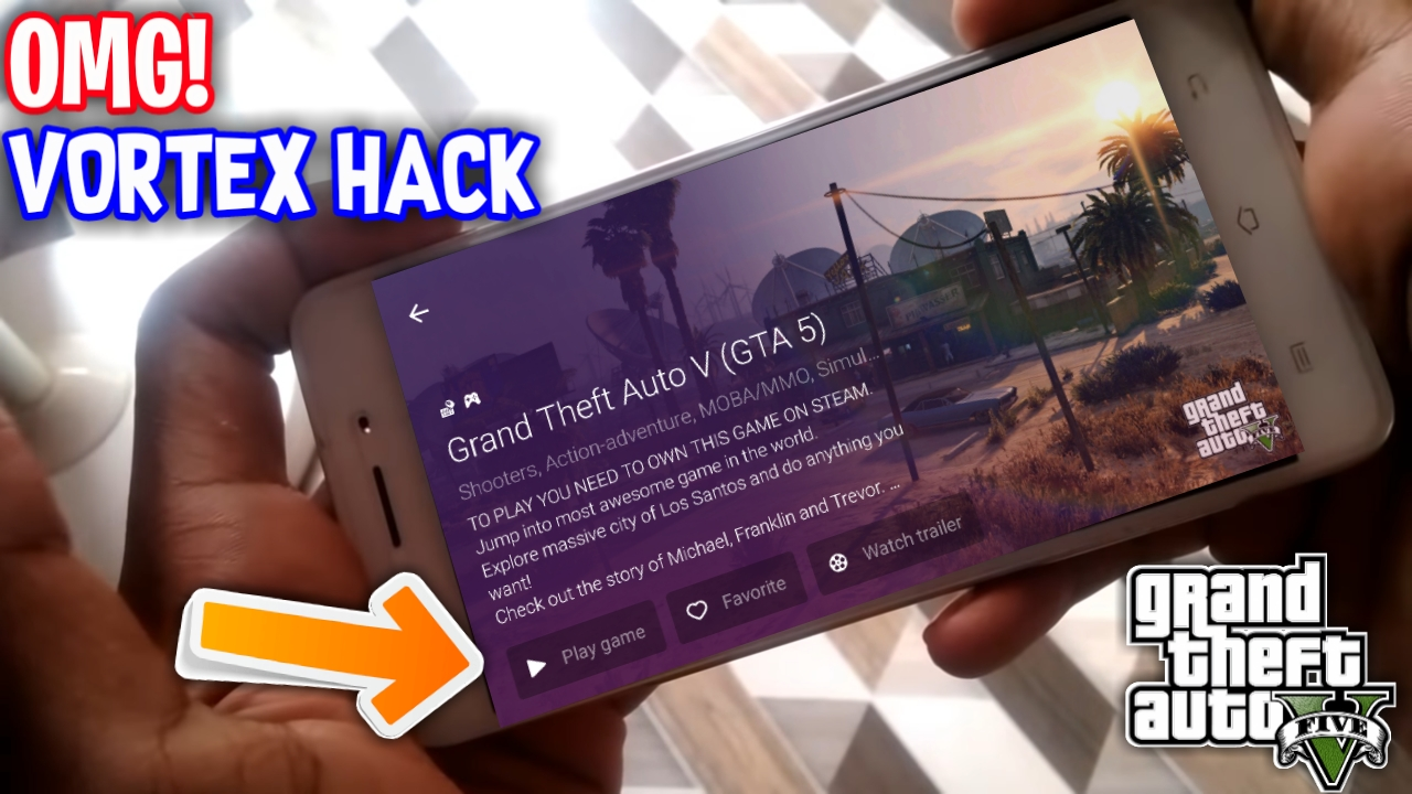 PLAY GTA5 ON ANDROID WITH VORTEX HACKED APK FOR ANDROID