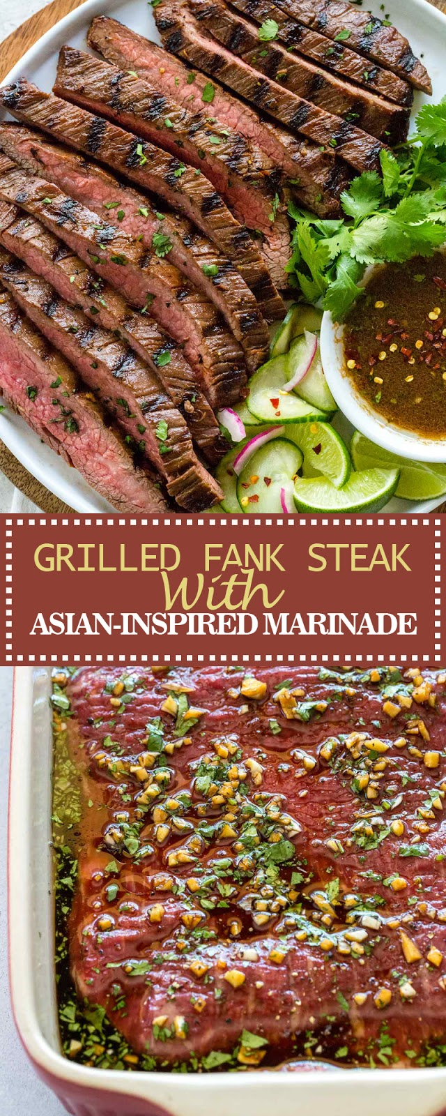 GRILLED FLANK STEAK WITH ASIAN-INSPIRED MARINADE