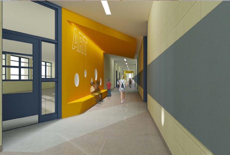 Corridor Design Color: Renewshaw.com: Seaton Elementary Modernization Underway