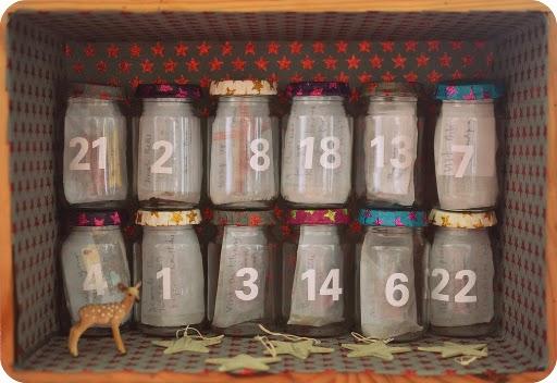 kalendarz adwentowy słoiki