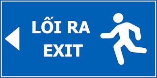Bảng thoát hiểm, lối thoát, exit