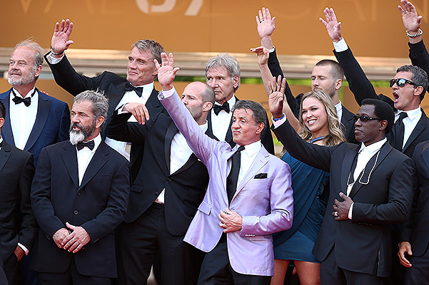 "The team of the film ""the expendables 3"""