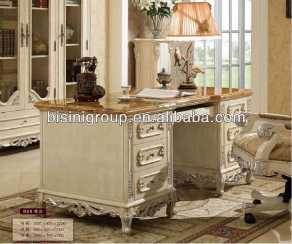 antique white wood office furniture image source www.alibaba