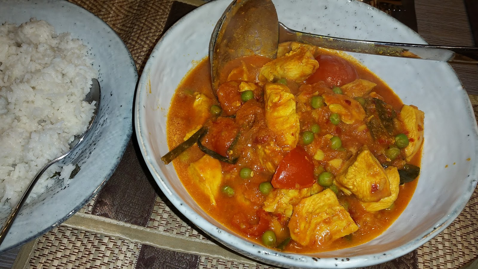 Kürbis Hähnchen Curry No Worry She Can Curry Nyonya Malayisches Tomaten Chili