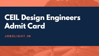 CEIL Design Engineers Admit Card