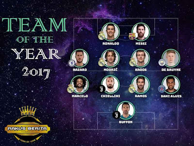 Real Madrid Dominasi Formasi Team Of The Year 2017