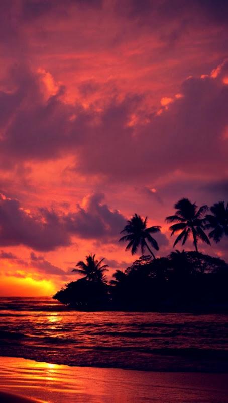 Nature Wallpaper Red Beach Sunset Sky Hd Wallpapers