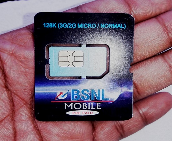 BSNL slashes Normal / Micro SIM charges to Rs 15/- with effect from 26th May 2017 in all the circles