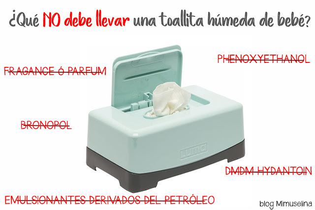 ingredientes que no deben llevar las toallitas de bebé etiquetado toallita húmeda blog mimuselina