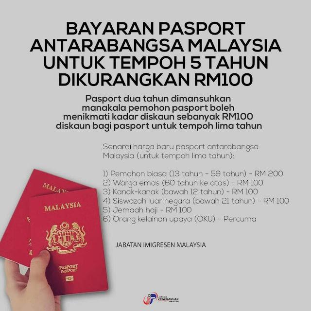 harga passport malaysia, renew passport, perbaharui passport, passport murah, diskaun untuk membuat passport,