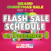 Lazada GRAND CHRISTMAS SALE Flash Sale Schedule (December 8)