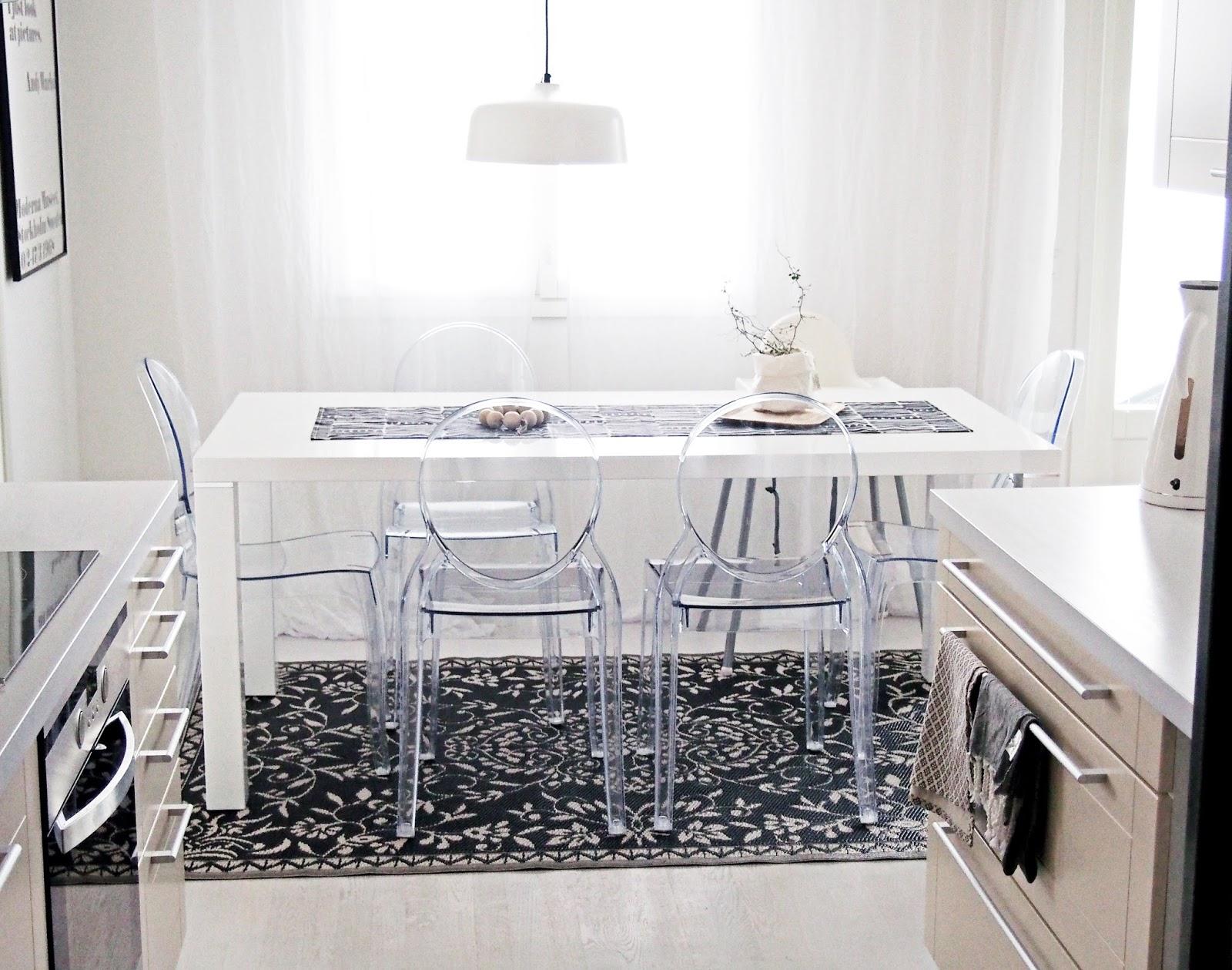 Se keittiön matto näyttää nyt tältä, mielipiteitä kaivataan  Valkoisen vuore
