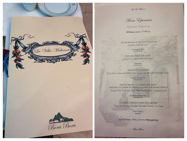環遊世界|大溪地|La Villa Mahana餐廳菜單 menu - Menu Epicurean