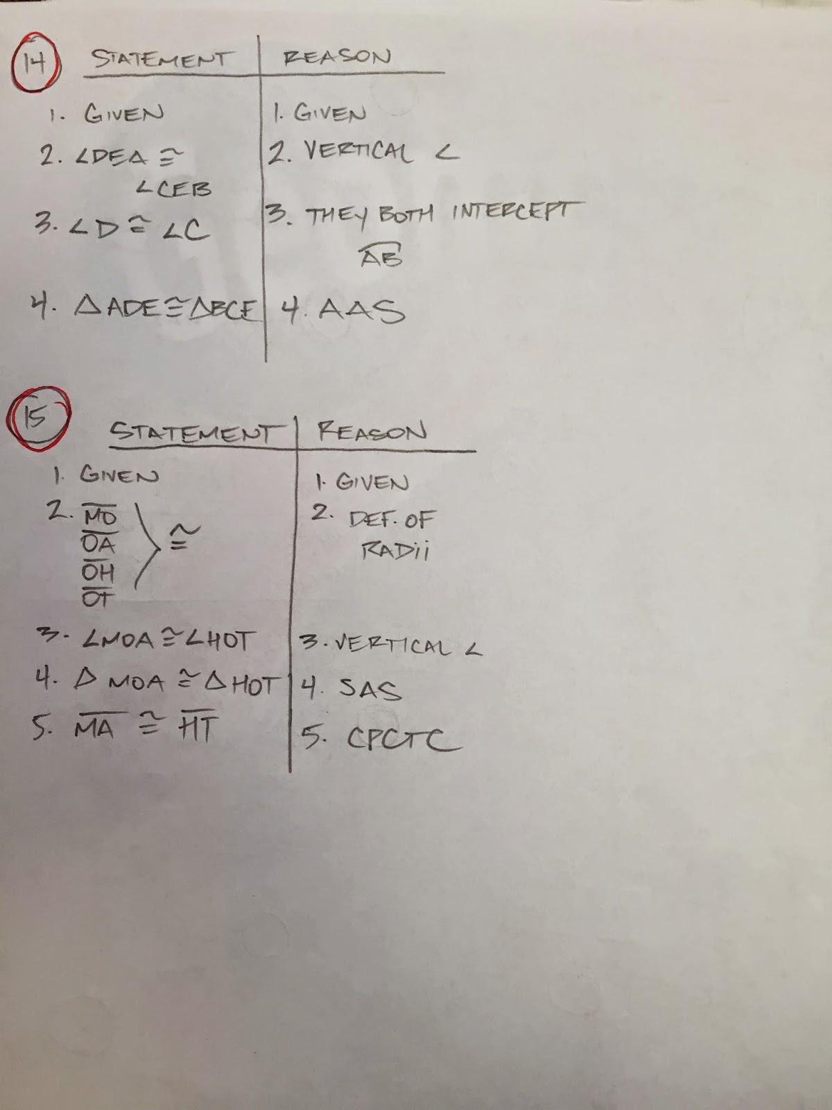 Honors Geometry - Vintage High School: Chapter 10 practice ...
