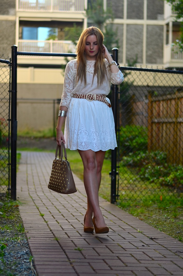 Dainty Crochet and eyelet outfit