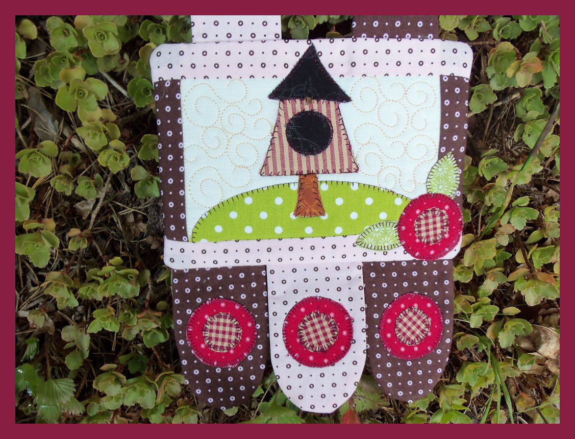 Squirrels Do Sew Penny Rug Wall Hanging Made In A
