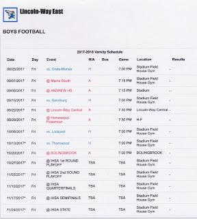 2017 LWHS East Football Link
