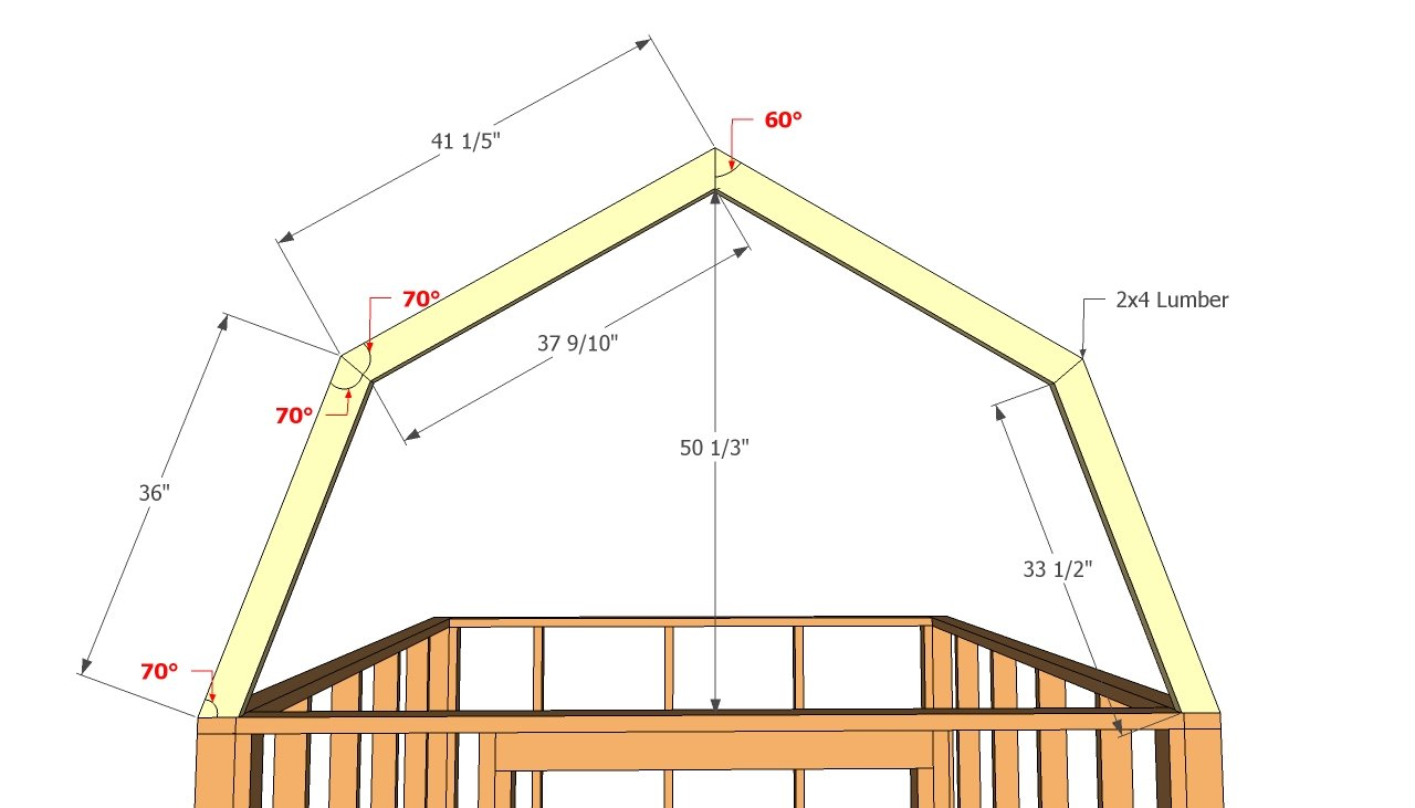 How to gambrel roof calculator for Custom roof trusses