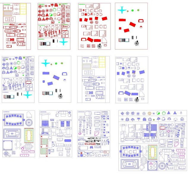 Belle Nouvelle bibliothèque de bloc Autocad en dwg ~ Engineering et PC-18