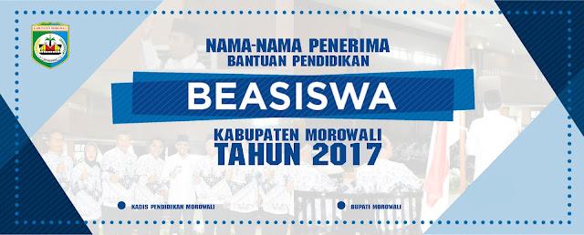 NAMA-NAMA PENERIMA BANTUAN BEASISWA PENDIDIKAN MAHASISWA KABUPATEN MOROWALI TAHAP I TAHUN 2017