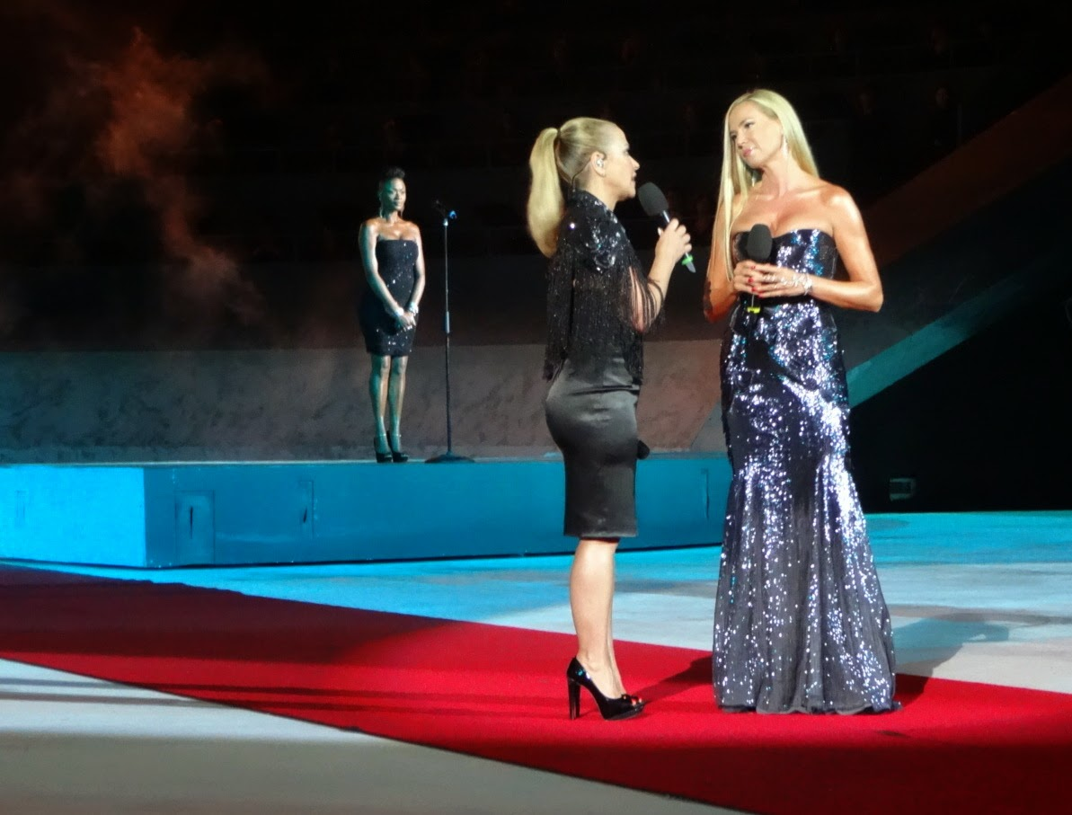intimissimi on ice opera pop 2014, carolina kostner, stéphane lambiel, arena di verona, pattinaggio sul ghiaccio, anastacia, tv, canale 5, federica panicucci