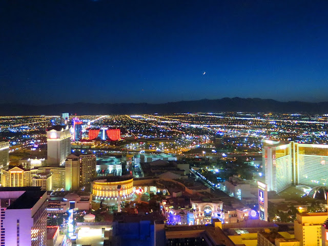 Las Vegas Strip Night High Roller Moon