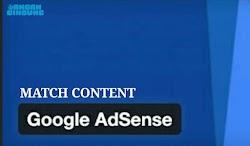 Match Content iklan spesial dari Adsense, begini cara mendapatkannya