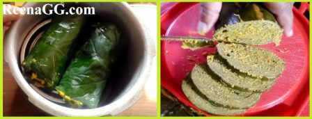 Making Arbi Patra At Home (recipe)