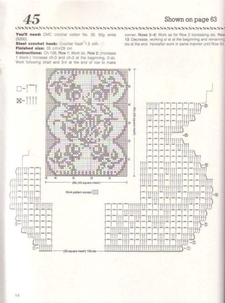 World crochet: Napkin 94