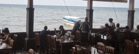 Lovina Beach Restaurant Lunch Break - Lovina Beach Restaurant, North Coast Buleleng, Singaraja Northern Bali, Dolphin Water Sport Activities