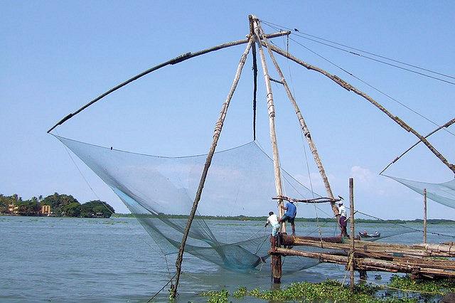 Chinesische Fischernetze Kochi