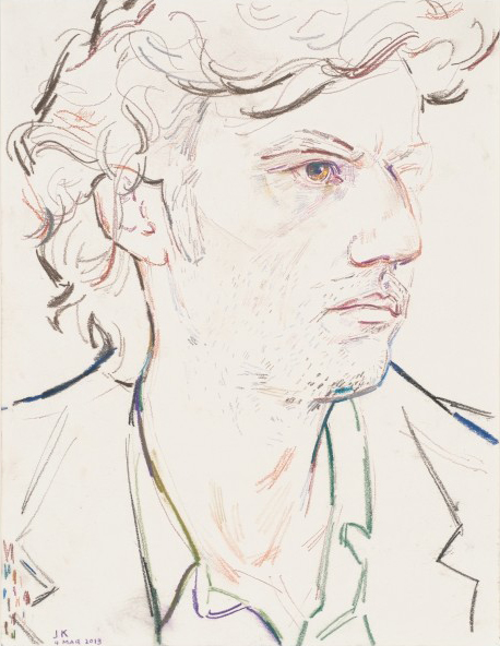 Elizabeth Peyton Jonas Kaufmann, March 2013, 2013 Color pencil and pastel pencil on paper 11 3/4 x 9 inches
