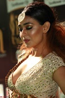 Apoorva Spicy Pics in Cream Deep Neck Choli Ghagra WOW at IIFA Utsavam Awards 2017 61.JPG