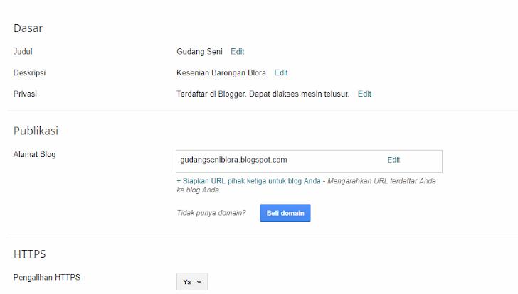 Cara Mengganti Domain Blogspot Dengan Domain Sendiri