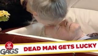 Funny Video – Wife Kisses DEAD Husband
