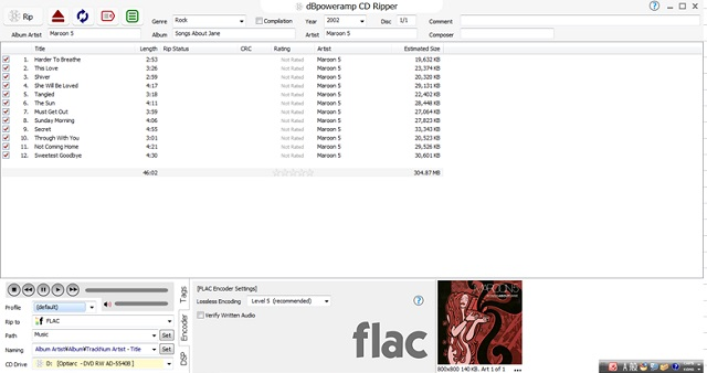 CD FLAC 変換