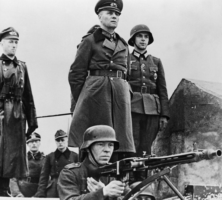 Erwin Rommel with his troops