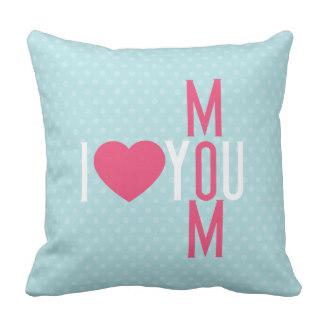 Gifting Pillows for Mom - Modern I Love You Mom Throw Pillow
