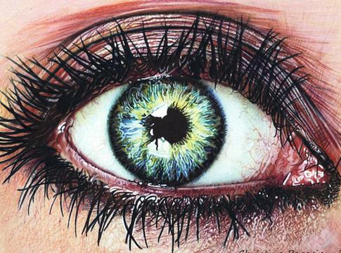 رسومات عيون و تعليم طريقة رسم العين